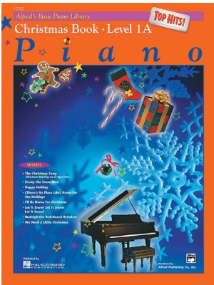 Alfreds Basic Piano Library Top Hits Christmas Book 1A