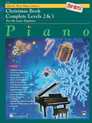 Alfreds Basic Piano Course Top Hits Christmas Complete 2 3
